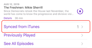 How to Delete Synced from iTunes in Podcasts App on iPhone