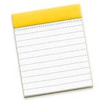 macOS Notes App Icon