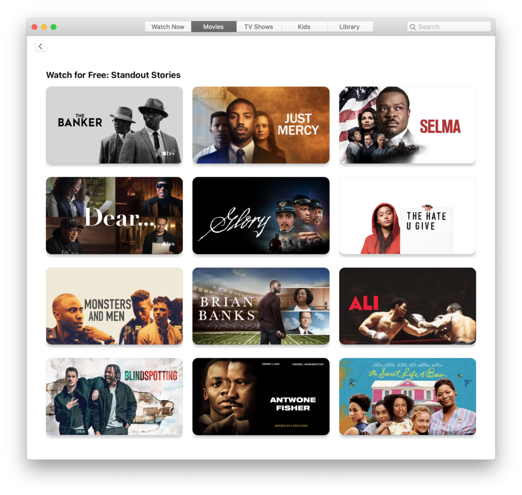 TV App Screenshot on Mac