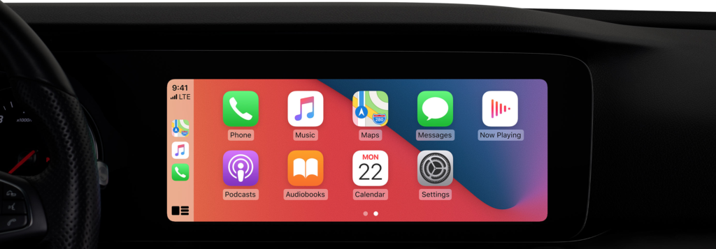 iOS 14 feature - CarPlay Wallpaper