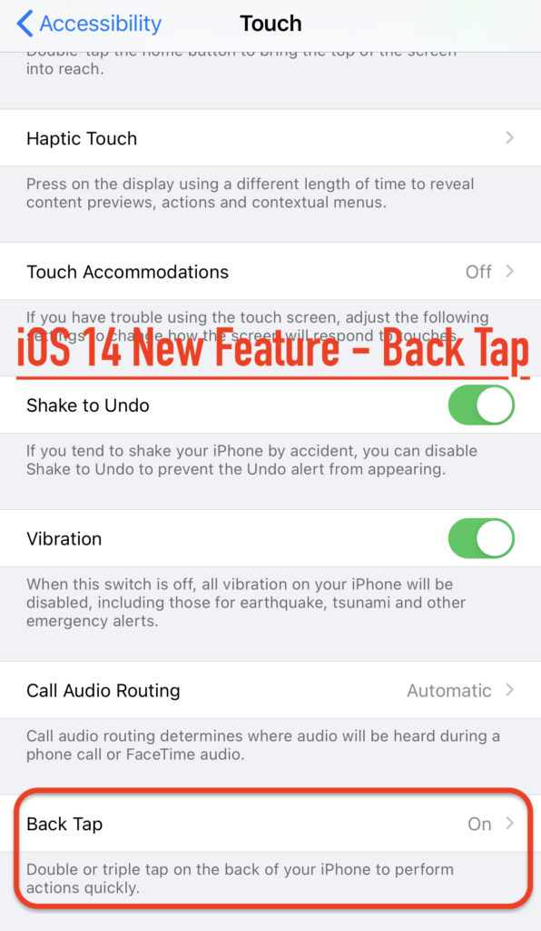 Back Tap in iOS 14 Public Beta 3