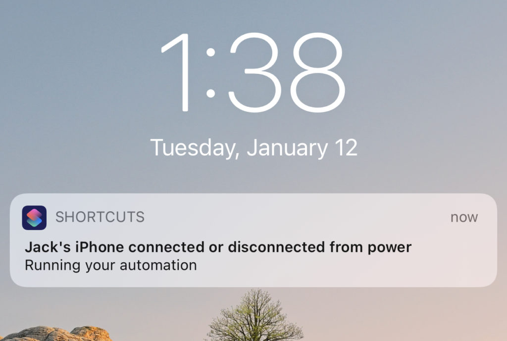 Automation Notification on Lock Screen