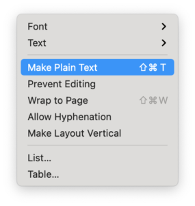 Use macOS TextEdit App to Remove Text Formatting