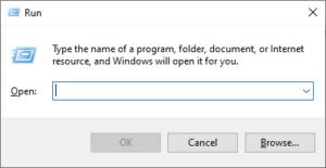 Windows 10 Run Window