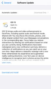 Apple iOS 15 Public Beta